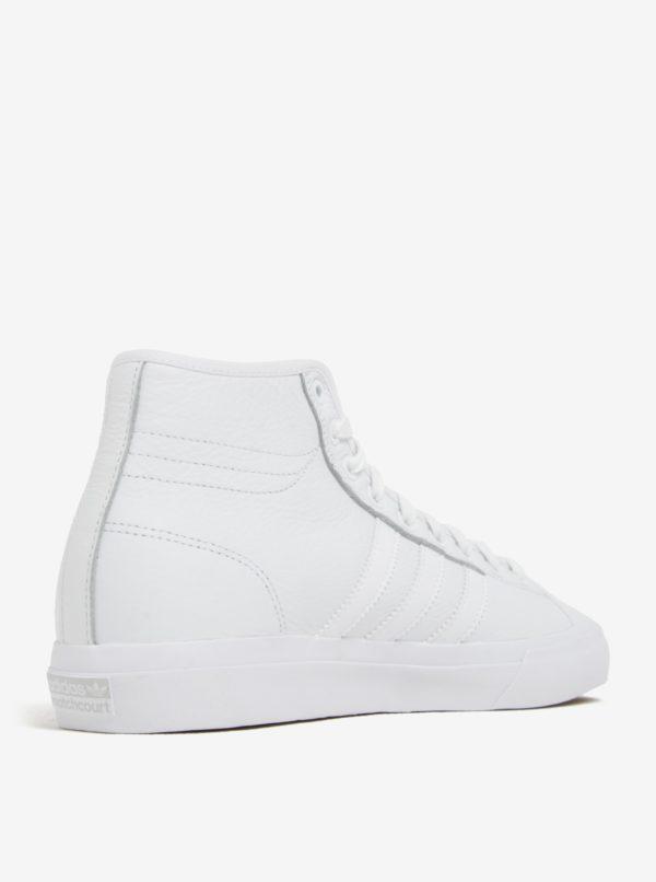 Biele pánske kožené členkové tenisky adidas Originals Matchcourt High