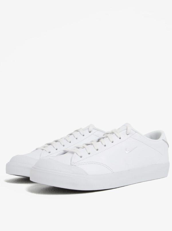 Biele pánske kožené tenisky Nike All Court 2 Low  89a5fdd064e