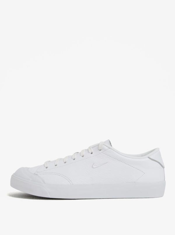 Biele pánske kožené tenisky Nike All Court 2 Low
