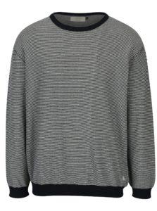 Modro-krémový pruhovaný sveter Jack & Jones Nash