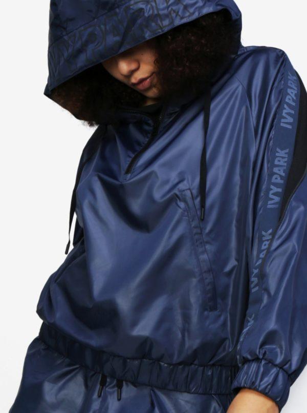 Modrá športová bunda s kapucňou Ivy Park