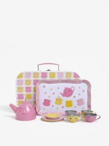 Ružová detská čajová súprava v kufríku Sass & Belle