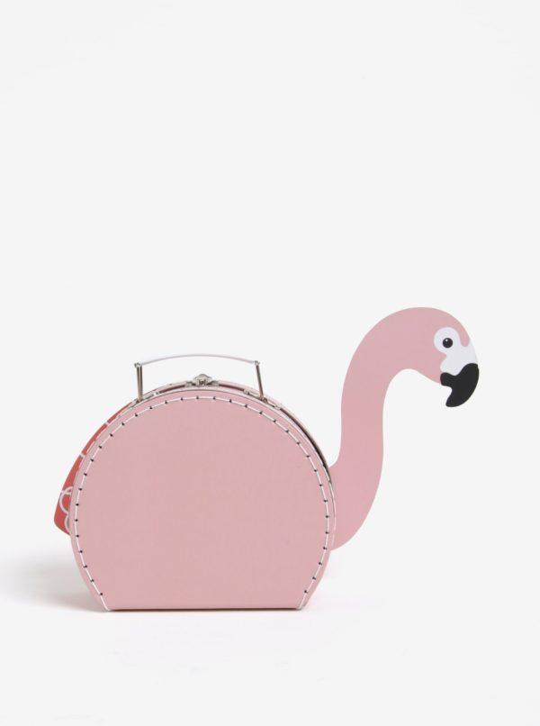 Ružový kufrík v tvare plameniaka Sass & Belle