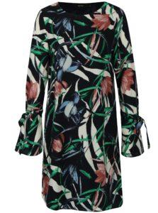 Tmavomodré kvetované šaty VERO MODA Lihn