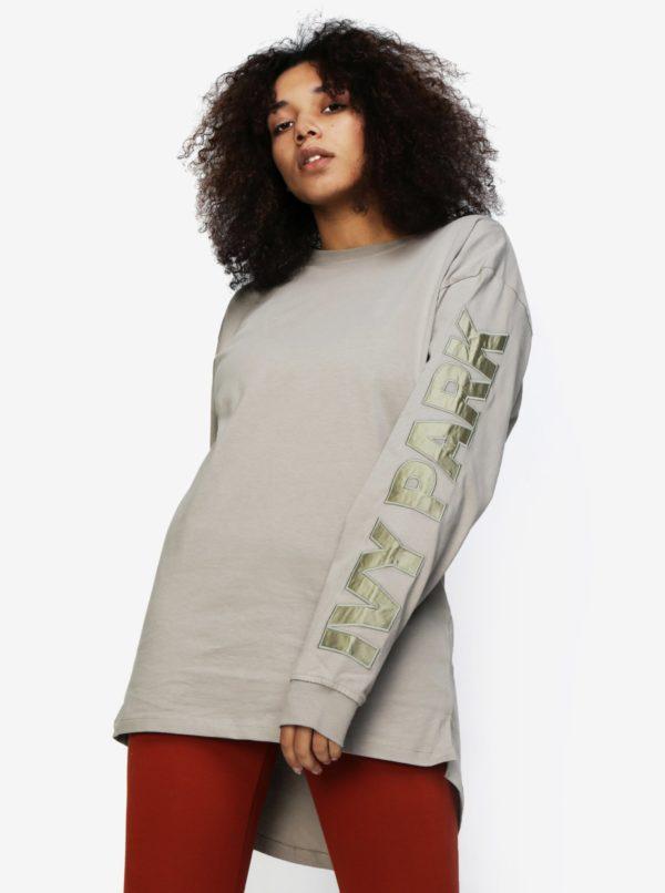 Béžové tričko s dlhým rukávom Ivy Park