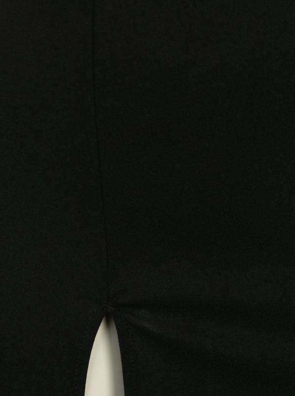 Čierne maxišaty s rozparkom a prestrihom v dekolte AX Paris