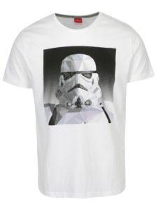 e95d9eb198c9 Sivo-biele pánske slim fit tričko s motívom Star Wars s.Oliver