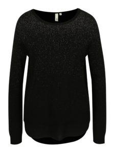 Čierny dámsky trblietavý sveter s.Oliver