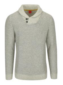 Béžový vzorovaný sveter s golierom s.Oliver