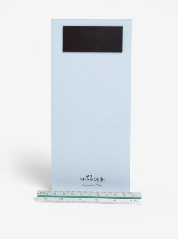 Svetlomodrý plánovací blok s magnetom Sass & Belle