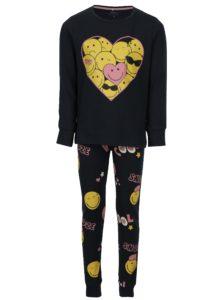 Tmavomodré dievčenské pyžamo s potlačou name it Happy