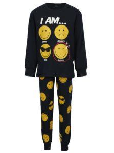 Tmavomodré chlapčenské pyžamo s potlačou name it Happy