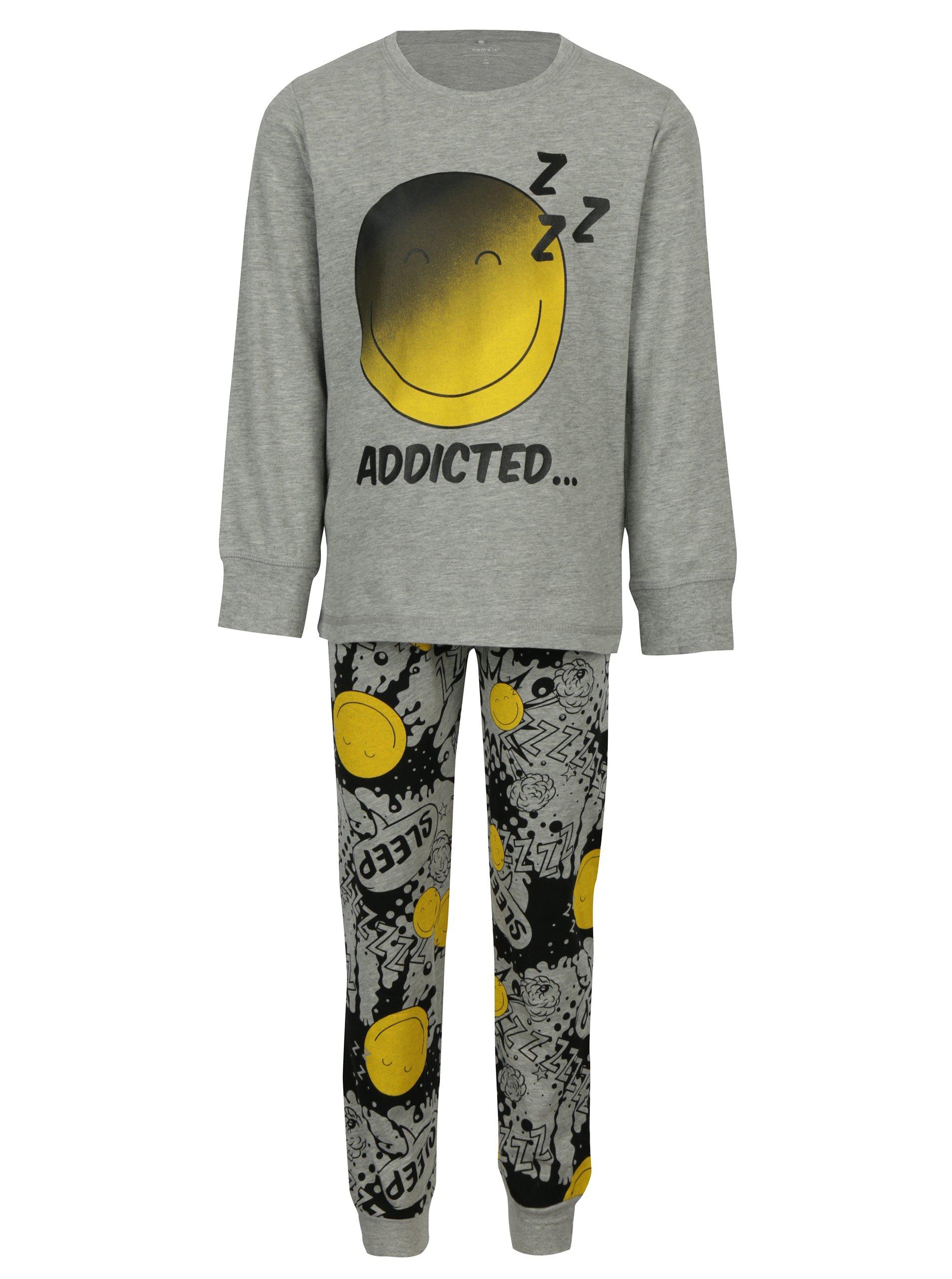 50f9bc2eb Sivé chlapčenské pyžamo s potlačou name it Happy   Moda.sk