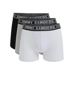 Sada troch boxeriek v čiernej, sivej a bielej farbe Jimmy Sanders