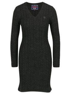 Tmavosivé svetrové šaty Jimmy Sanders