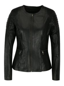 Čierna kožená dámska bunda Jimmy Sanders