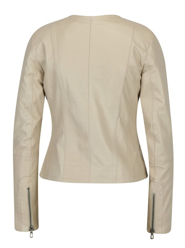 Béžová dámska kožená bunda Jimmy Sanders
