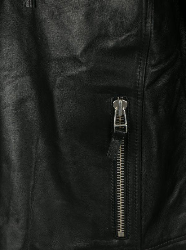 Čierna pánska kožená bunda Jimmy Sanders