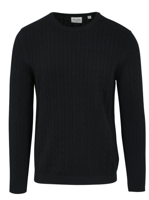 Tmavomodrý sveter ONLY & SONS Alex