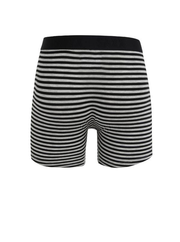 Čierno-sivé pánske pruhované boxerky SAXX Vibe modern fit