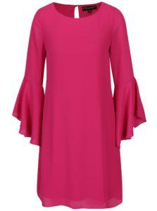 Tmavoružové šaty so zvonovým rukávom Dorothy Perkins