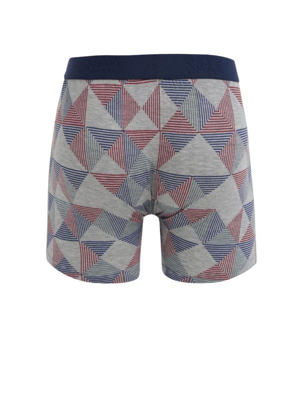 Modro-sivé pánske vzorované boxerky SAXX Ultra Regular fit