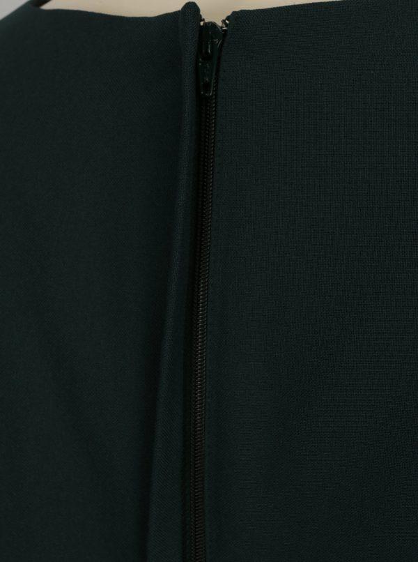 Tmavozelené puzdrové šaty s prestrihom v dekolte Dorothy Perkins