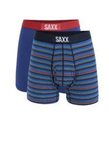 Súprava dvoch pánskych boxeriek v modrej farbe SAXX Ultra Regular fit