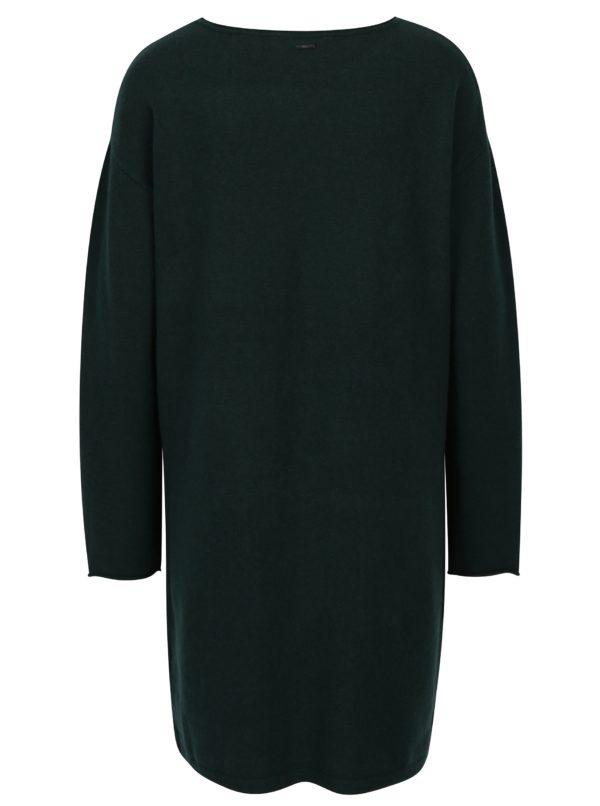 Tmavozelené svetrové šaty s vreckami s.Oliver