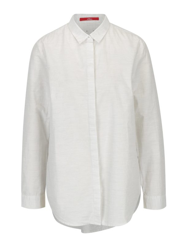 Krémová dámska melírovaná košeľa s.Oliver