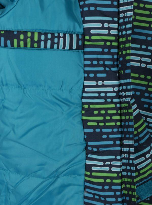 Modro-zelená chlapčenská vzorovaná zimná bunda LOAP Zengo