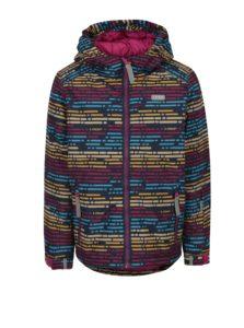 Ružová dievčenská vzorovaná zimná bunda LOAP Zengo