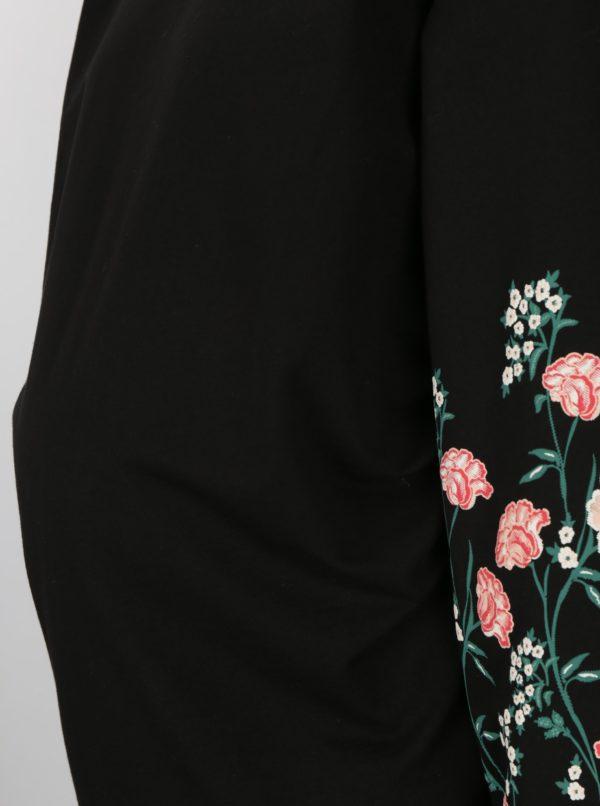 Čierna tehotenská vzorovaná mikina Dorothy Perkins Maternity