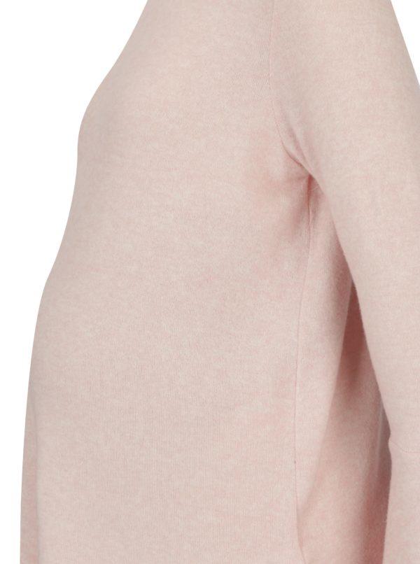 Svetloružový tehotenský tenký sveter Dorothy Perkins Maternity