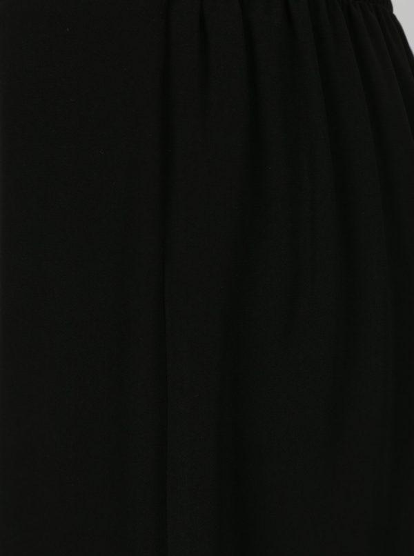 Čierne culottes s čipkovanými detailmi Dorothy Perkins