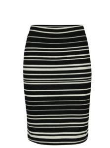 a0aeb78fcd55 Krémovo-čierna pruhovaná puzdrová sukňa Noisy May Lina