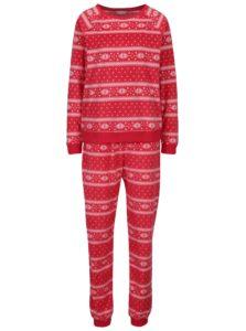 Krémovo–červené pyžamo s vianočným motívom Dorothy Perkins