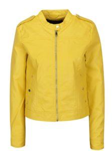 Žltá koženková bunda VERO MODA Alice