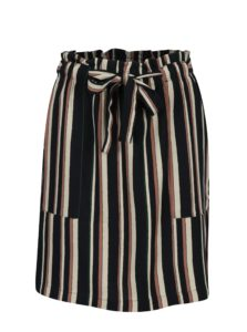 Krémovo-modrá pruhovaná sukňa Jacqueline de Yong Anneline