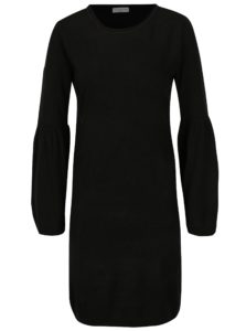 Čierne šaty s rozšíreným rukávom Jacqueline de Yong Stardust