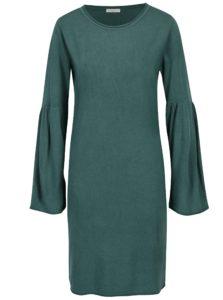Zelené šaty s rozšíreným rukávom Jacqueline de Yong Stardust