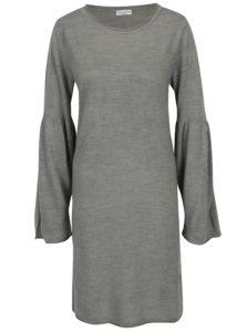 Sivé šaty s rozšíreným rukávom Jacqueline de Yong Stardust