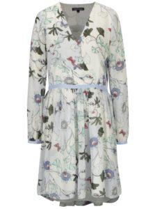 Krémové kvetované šaty Tommy Hilfiger