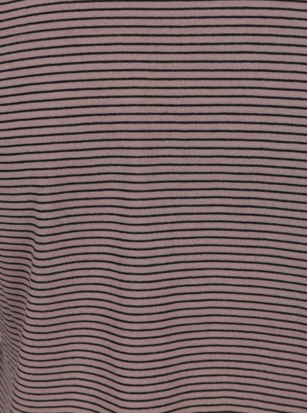 Fialové pruhované tričko s volánmi Jacqueline de Yong Cloud