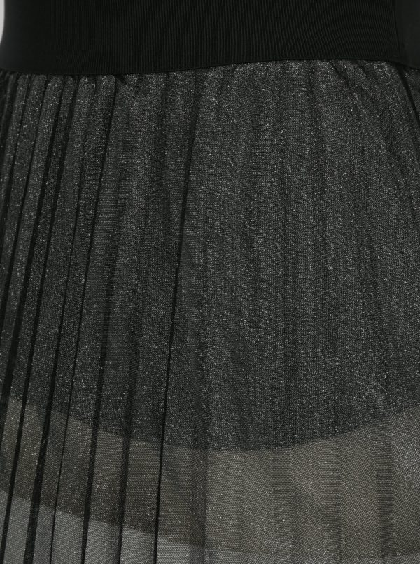 Čierna tylová midisukňa French Connection Daphne