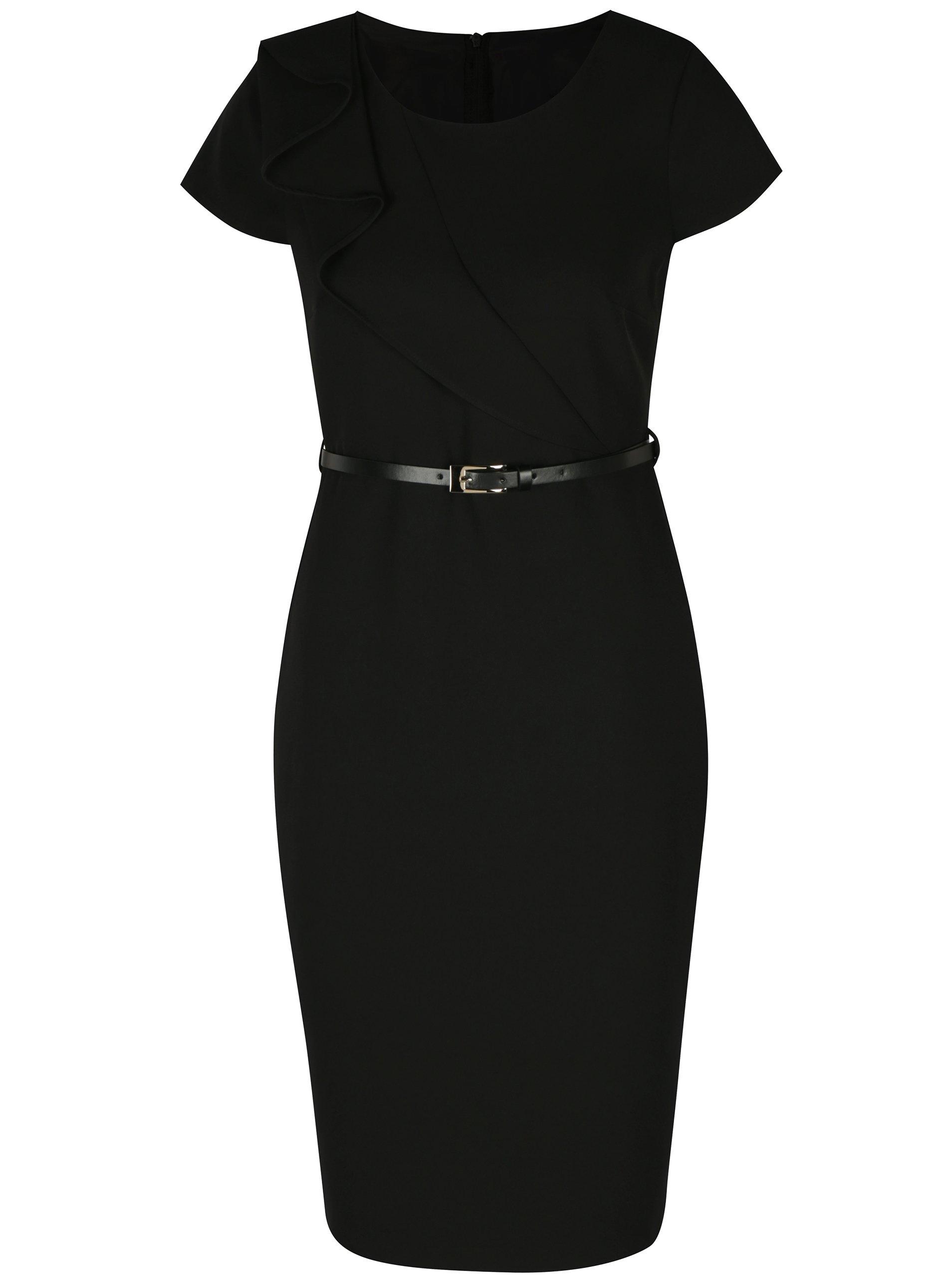 2980e03cda Čierne puzdrové šaty s opaskom Dorothy Perkins