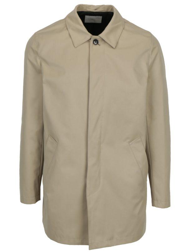Béžový kabát Selected Homme French