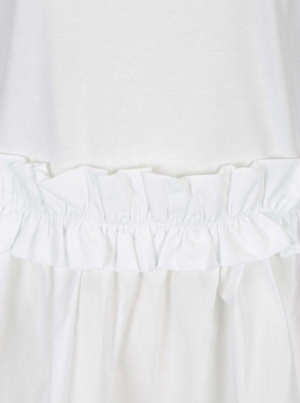 Biele tričko s volánom Rich & Royal