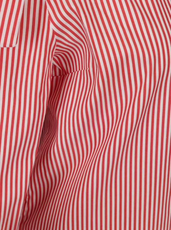 Bielo-červená asymetrická pruhovaná blúzka Rich & Royal