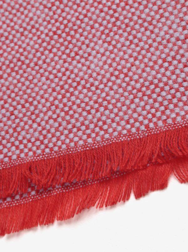 Červený vzorovaný šál Pieces Milla